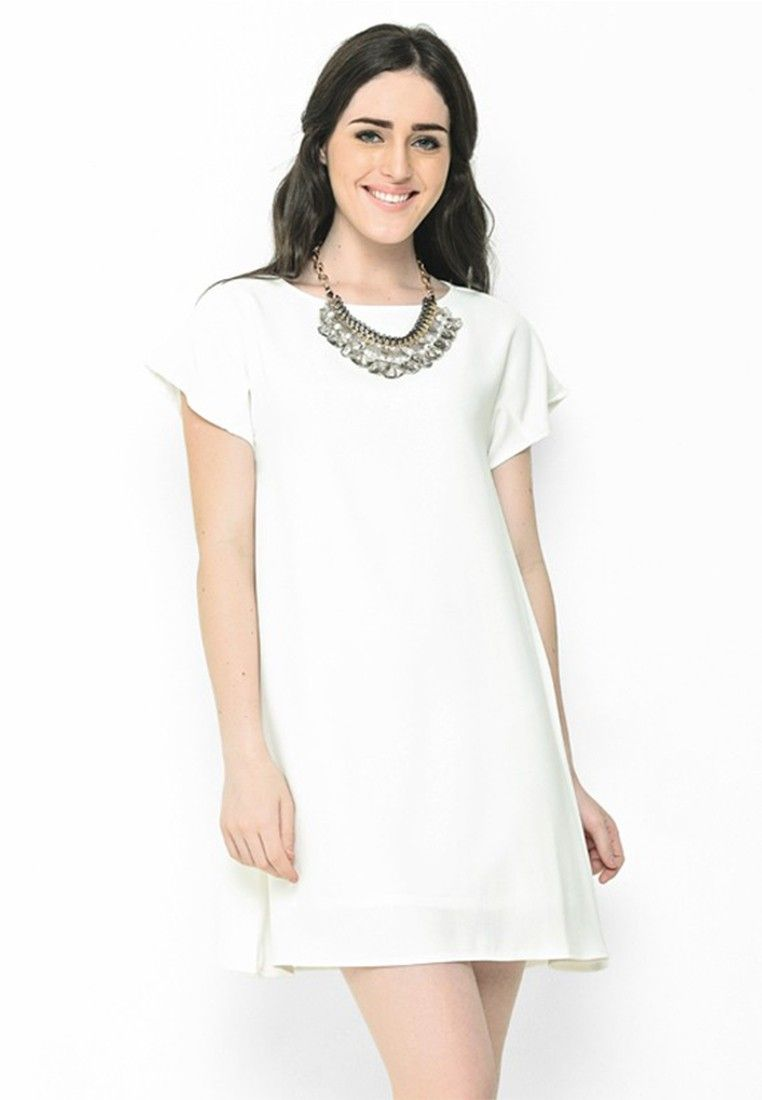 LOOKBOUTIQUESTORE Vine Dress White I Beli di ZALORA Indonesia ... 16f9f103a5