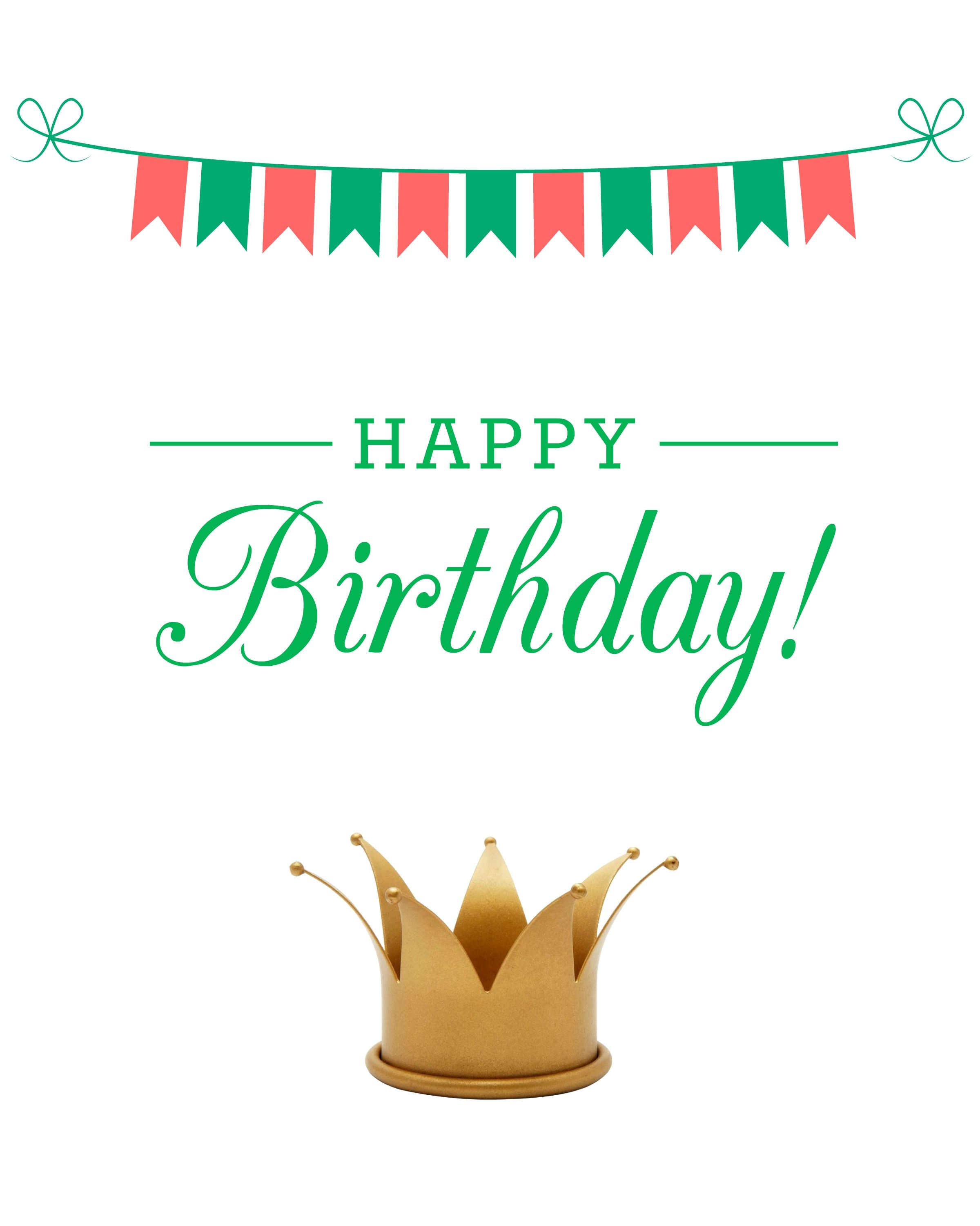 Happy Birthday Printable Perfect For Sending Wishes In An Email Designed With Love By ConfettiandBliss