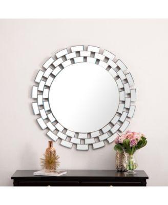 Abbyson Living Creo Round Wall Mirror Reviews All Mirrors