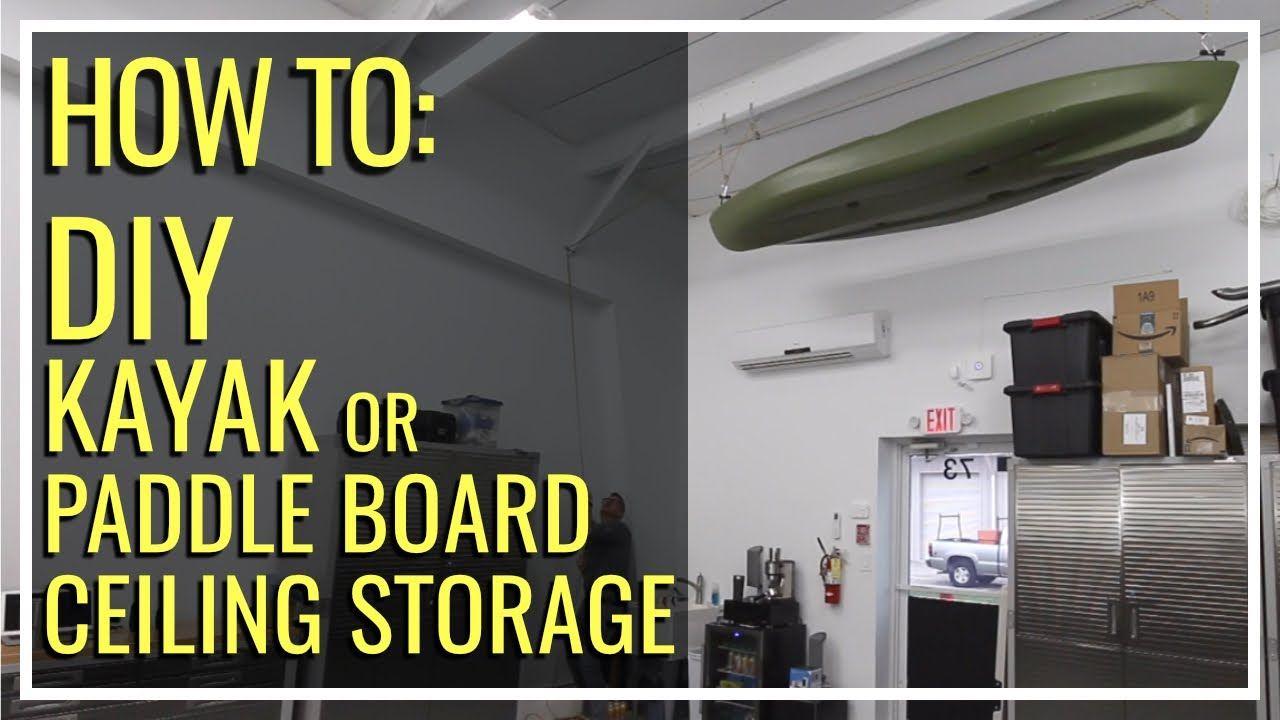 Diy Pulley System For Kayak Storage