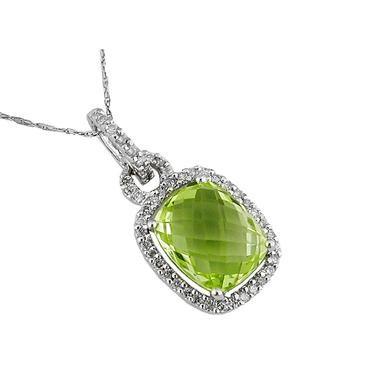 Diamond & Lemon Quartz Necklace