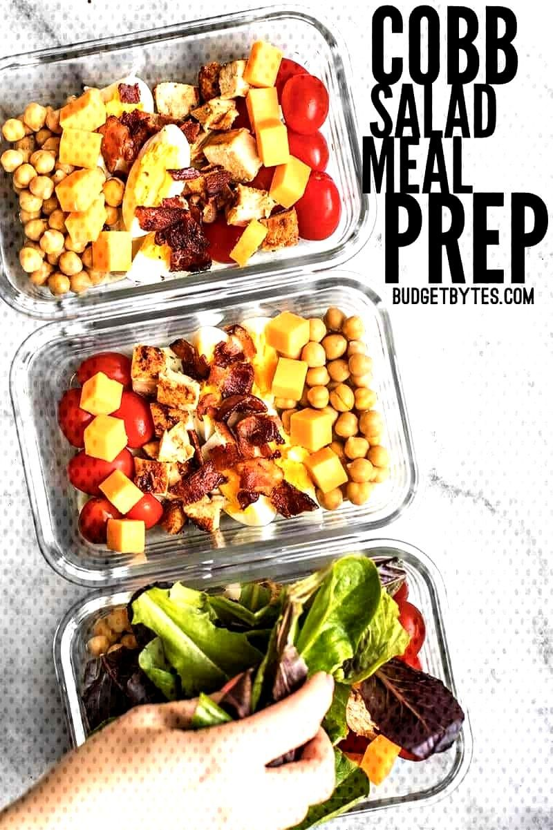 Healthy and Fresh Cobb Salad Meal Prep - Budget Bytes The special layering technique and low-moistu