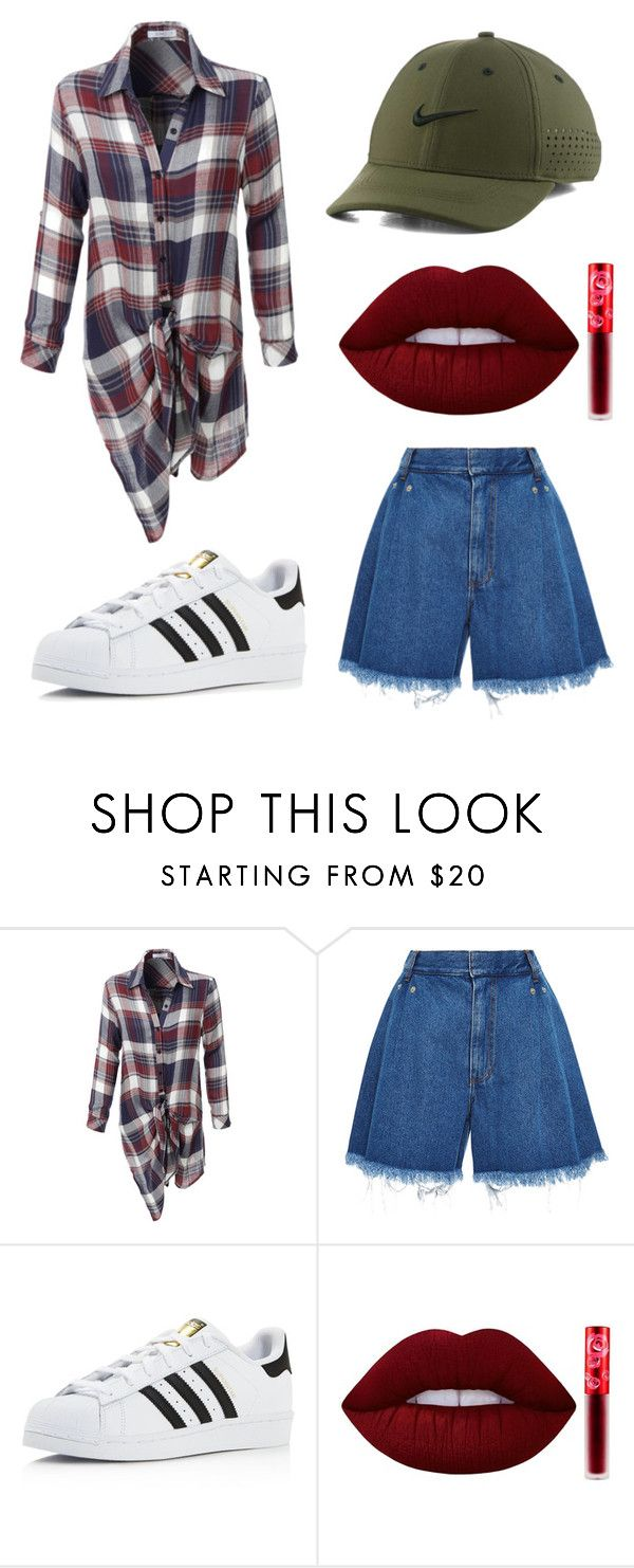 """""""3"""" by joshua-little on Polyvore featuring LE3NO, Ksenia Schnaider, adidas, Lime Crime and NIKE"""