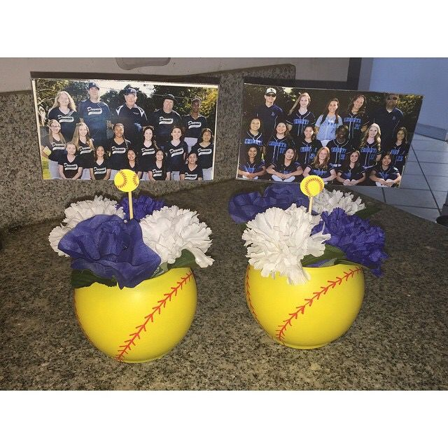 Softball banquet centerpieces discount pitching