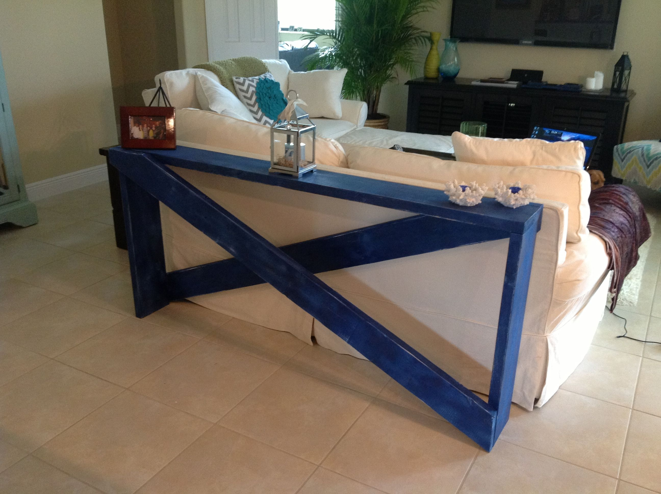 Make sofa table - I Would Place This Against The Wall Under Windows With Sofa In Front Then Add Plants Diy Behind The Sofa Table
