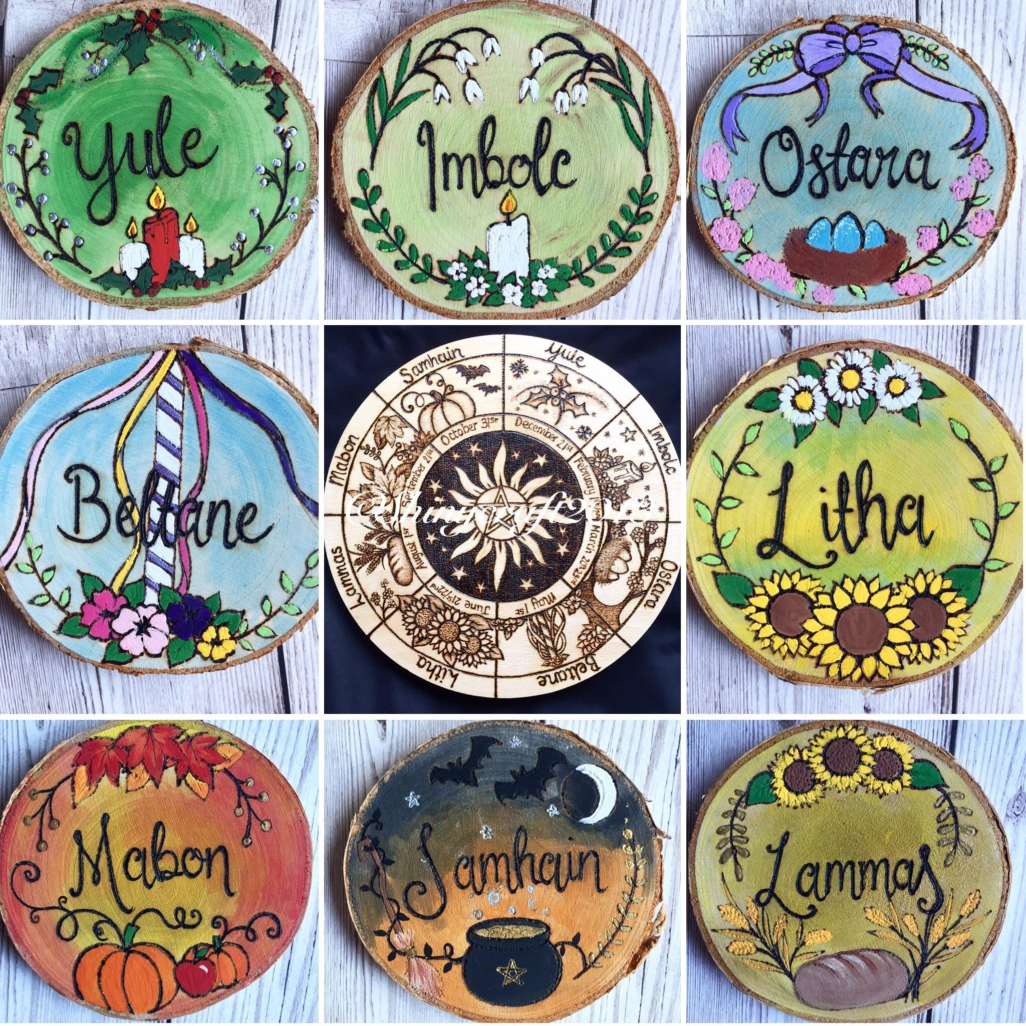 Wheel of the year altar decorations#altar #decorations # ...