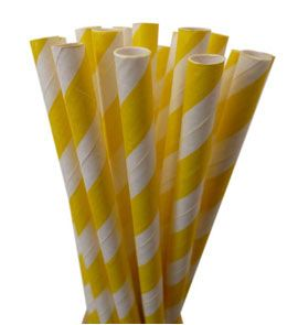 Yellow Paper Straws Pk 25  http://partylish.com.au/shopping/pgm-more_information.php?id=505&=SID