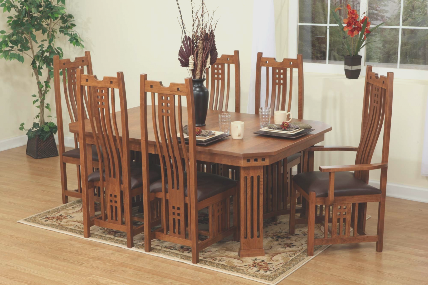 Beautiful Oak Dining Room Table And Chairs Oak Dining Room Table Craftsman Dining Tables Modern Dining Room