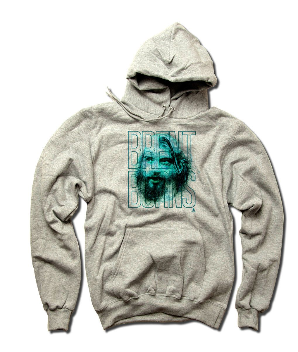 Brent Burns Officially Licensed NHLPA San Jose Unisex Youth Hoodie S-XL Brent Burns Lines Name T