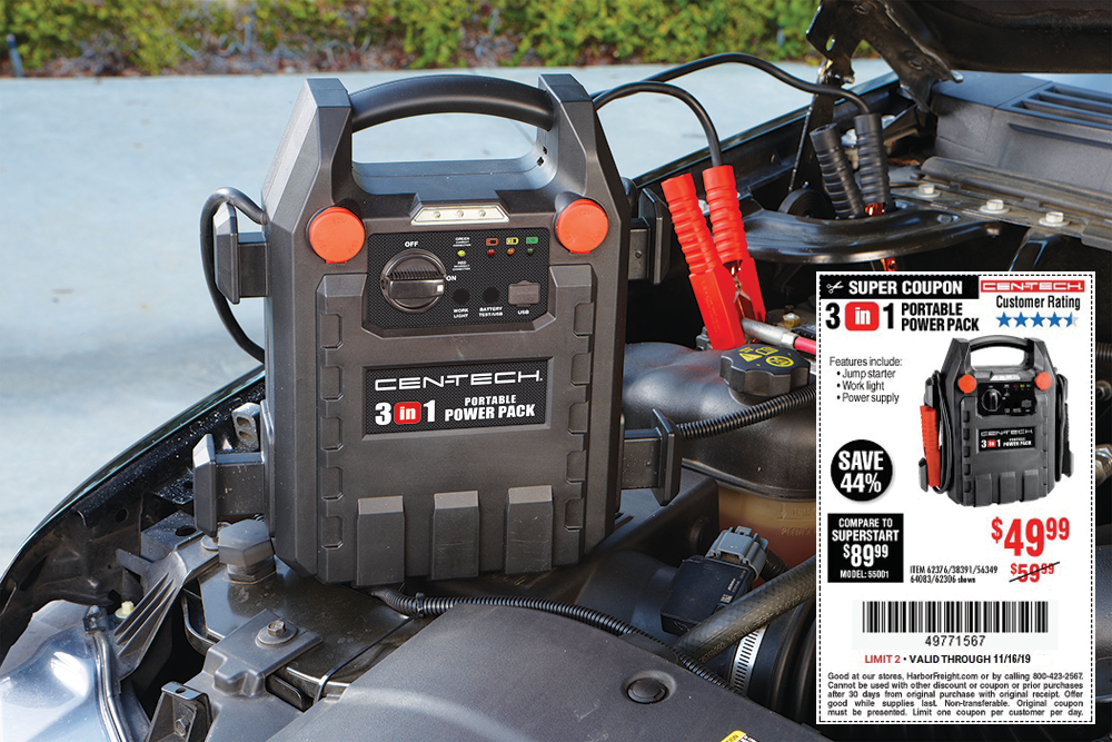 49.99 for a 12Volt Jump Starter and Power Supply