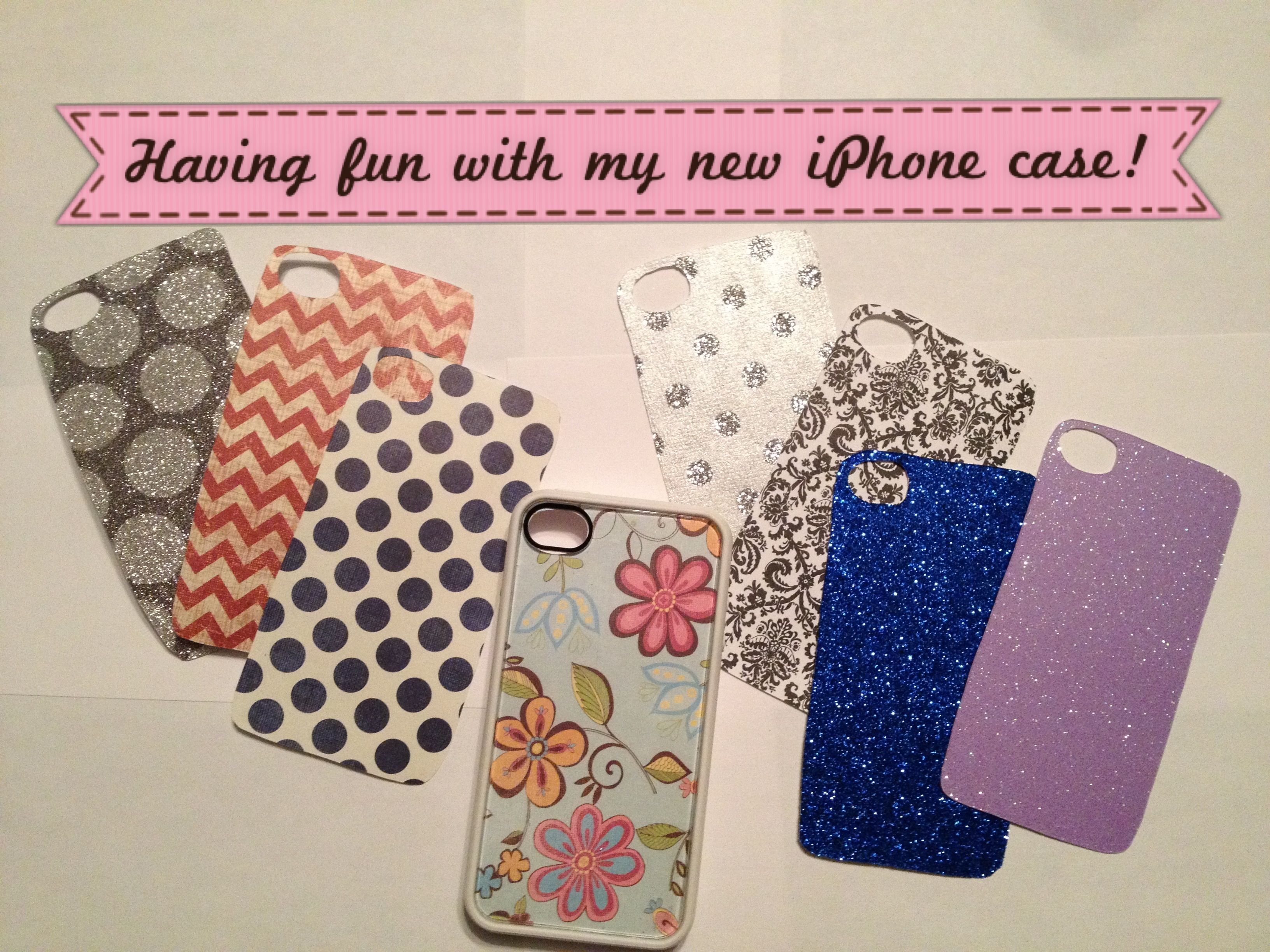 Scrapbook paper case - Clear Back Iphone Case Scrapbook Paper