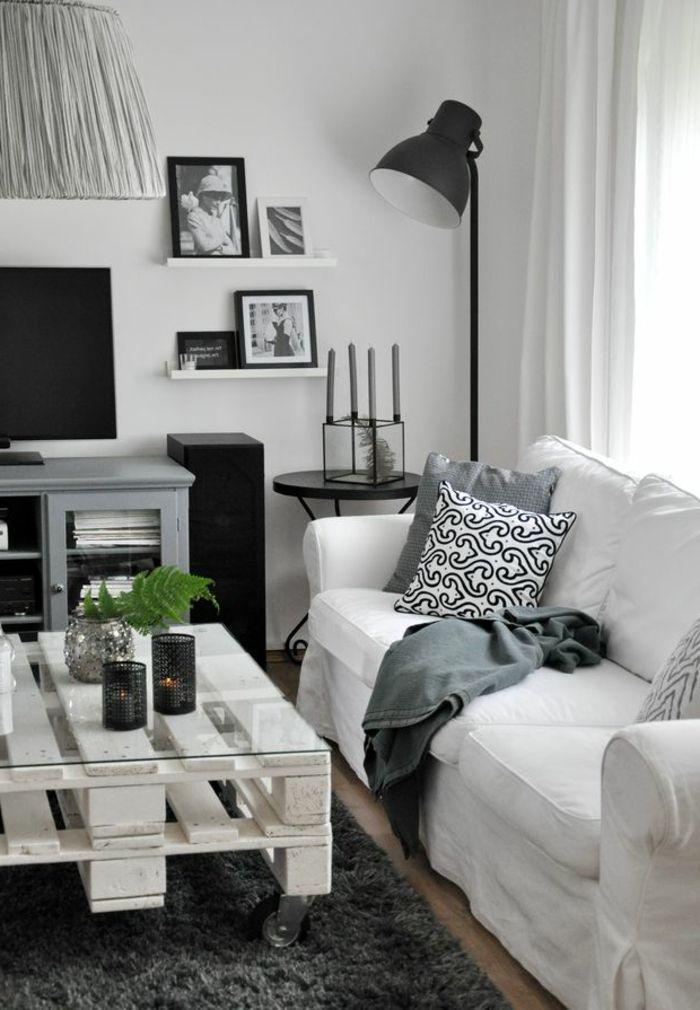 table de salon en palette jolie table blanche en palettes