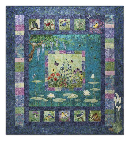 Mckenna Ryan S Bella Garden Quilt Kit Applique Quilt Patterns Applique Quilts Quilts