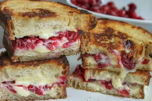 Roasted Cranberry and Brie Grilled Cheese