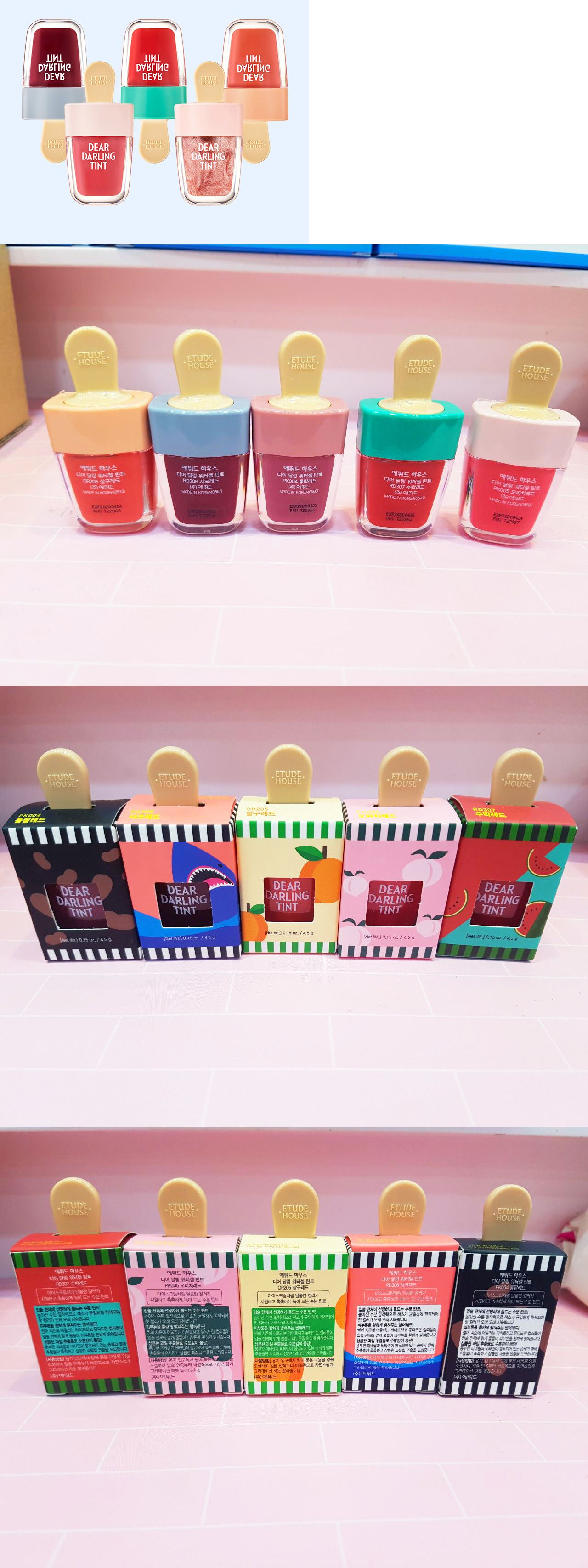 Lip Stain Etude House Dear Darling Water Gel Ice Cream Tint Summer Edition Limited