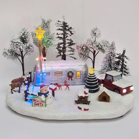 Carole Towne Resin Lighted Musical Crazy Cars Christmas
