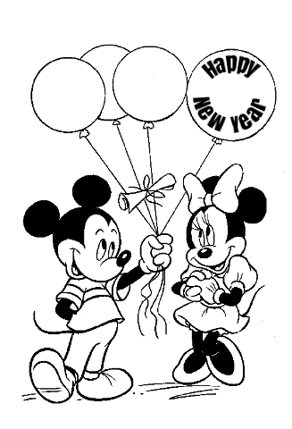 New Year Coloring Page Mickey Mouse Coloring Pages Minnie Mouse Coloring Pages Mickey Coloring Pages