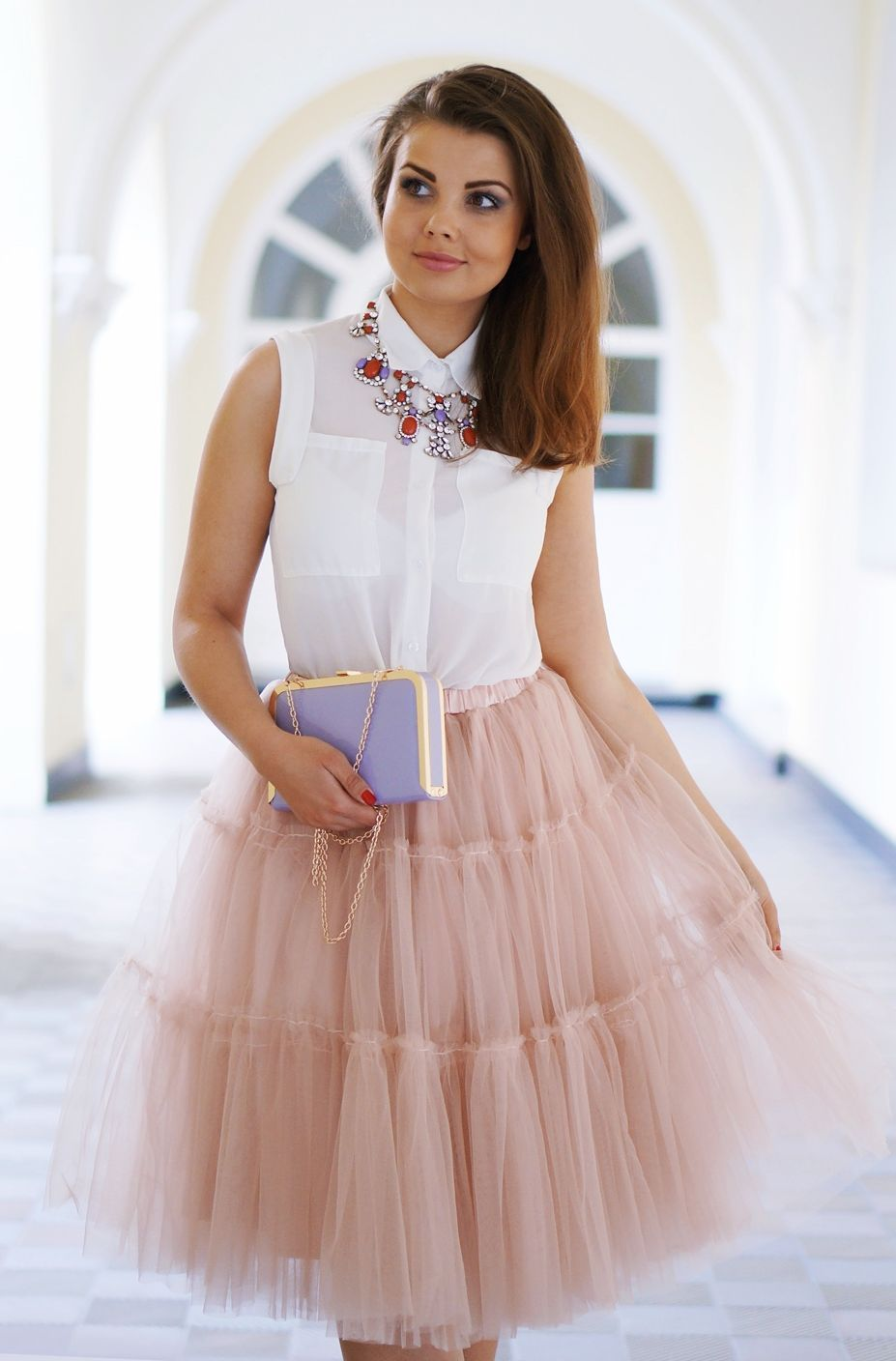 Blush Tulle Skirt Romantic Style by A piece Of Anna