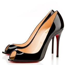 Cheap Christian Louboutin Sexy 100mm Peep Toe Pumps Black Clearance
