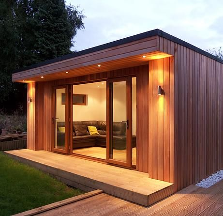 Garden rooms house extensions home offices annexes for Garden shed gym