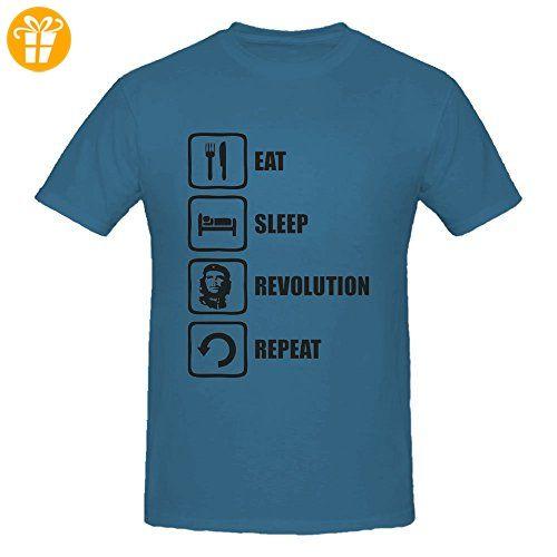 Eat Sleep Revolution Repeat Che Guevara Graphic Men's T-Shirt XX-Large (*Partner-Link)