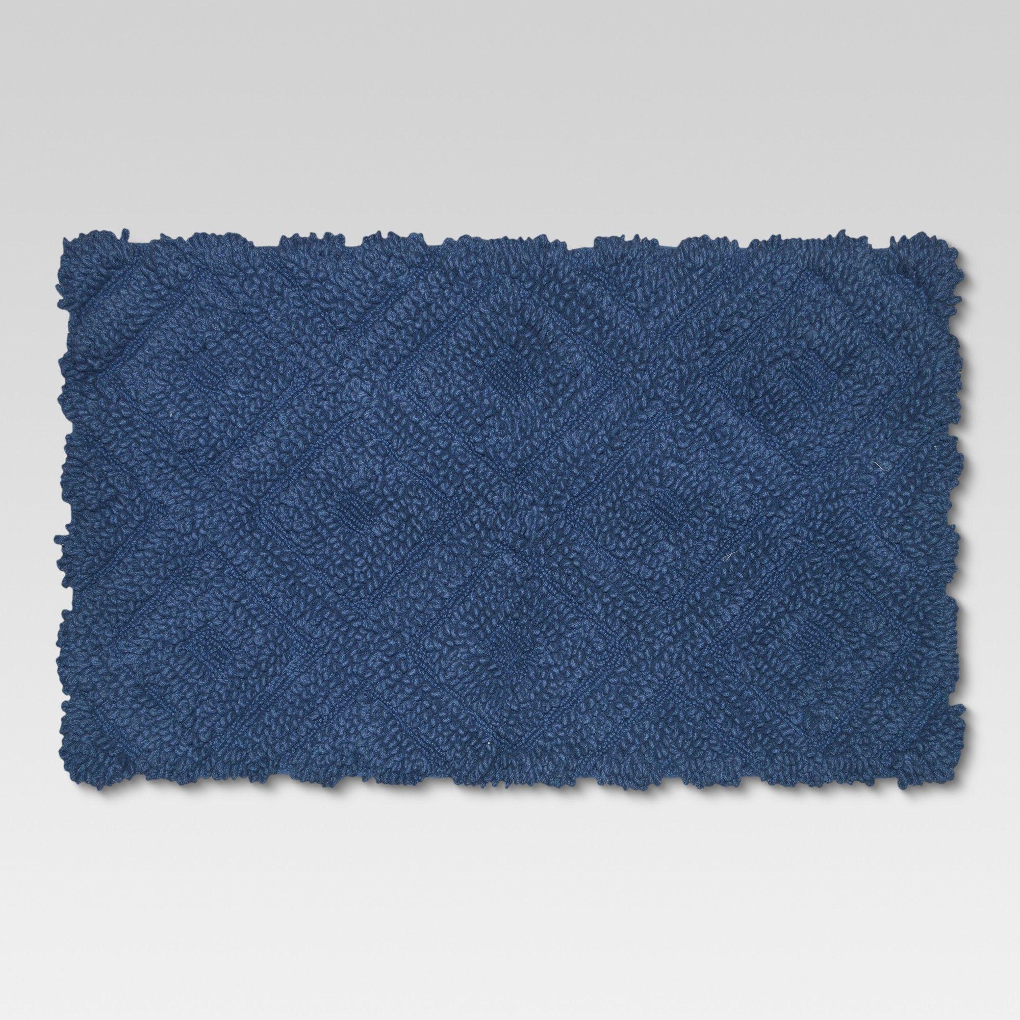 Diamond Bath Rugs 20 X34 Blue Threshold Bath Rug
