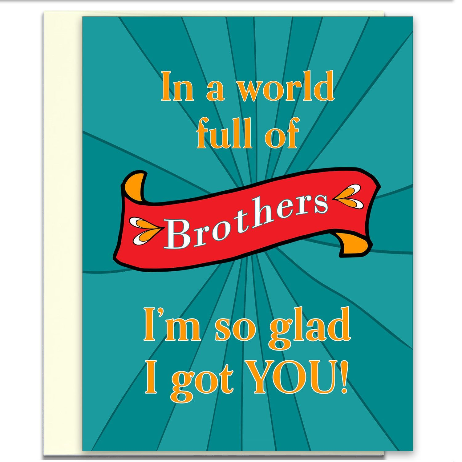 Brother Card Brother Birthday Card Funny Card Card for