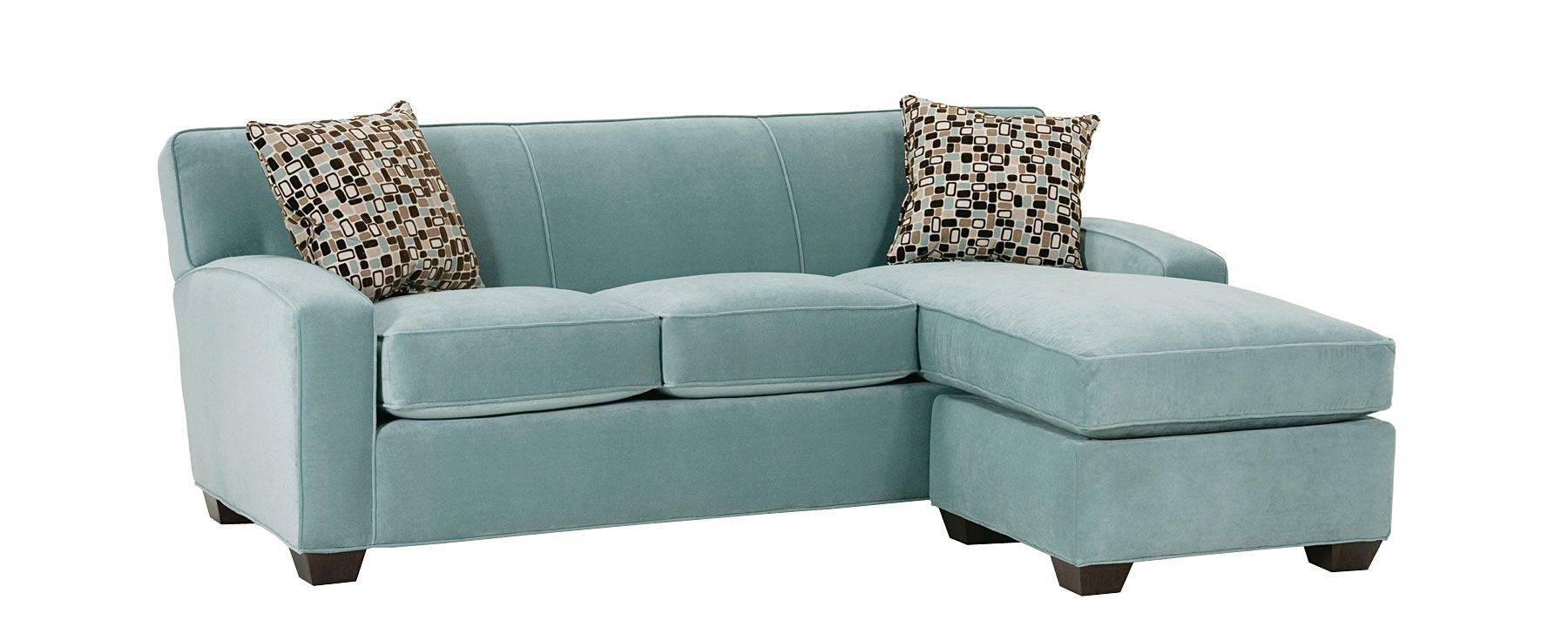 Mice Small Contemporary Sectional Sofa Couch With Chaise