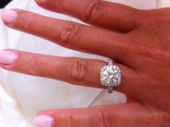Show me your 2 carat + diamond rings :  wedding 215 carat center stone halo engagement ring 1 large engagment rings ring Photoring
