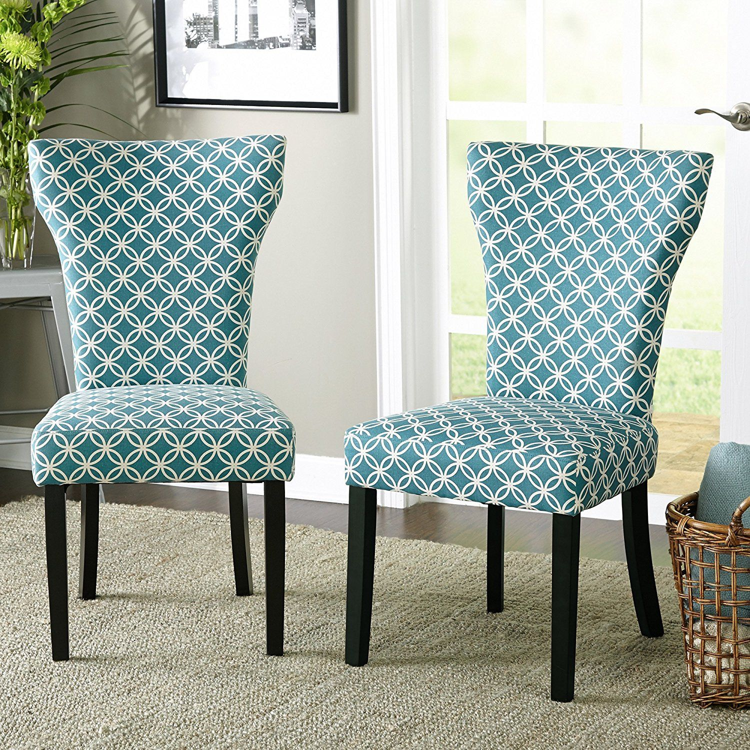 Best Amazon Com Contemporary Wood Fabric Upholstered Accent 400 x 300