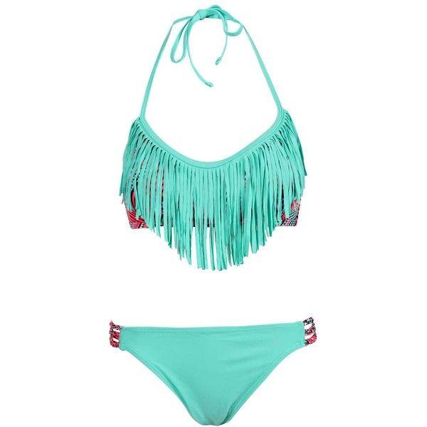 Swimwear | Bikinis, costumes and beachwear | boohoo ($24) ❤ liked on Polyvore featuring swimwear, bikinis, summer bathing suits, bikini swimwear, bathing suits bikini, bikini swim suit and summer swimsuits