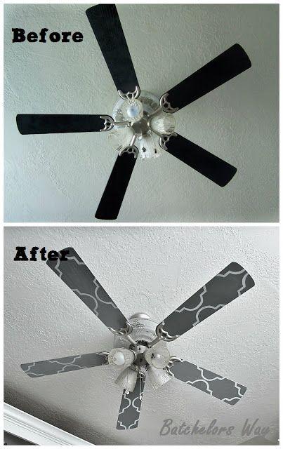 Custom Ceiling Fan Blades Stencil Brilliant Idea