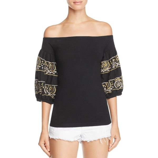 b5efd0089f492 Free People Rock With It Embroidered Off-the-Shoulder Top ( 93 ...