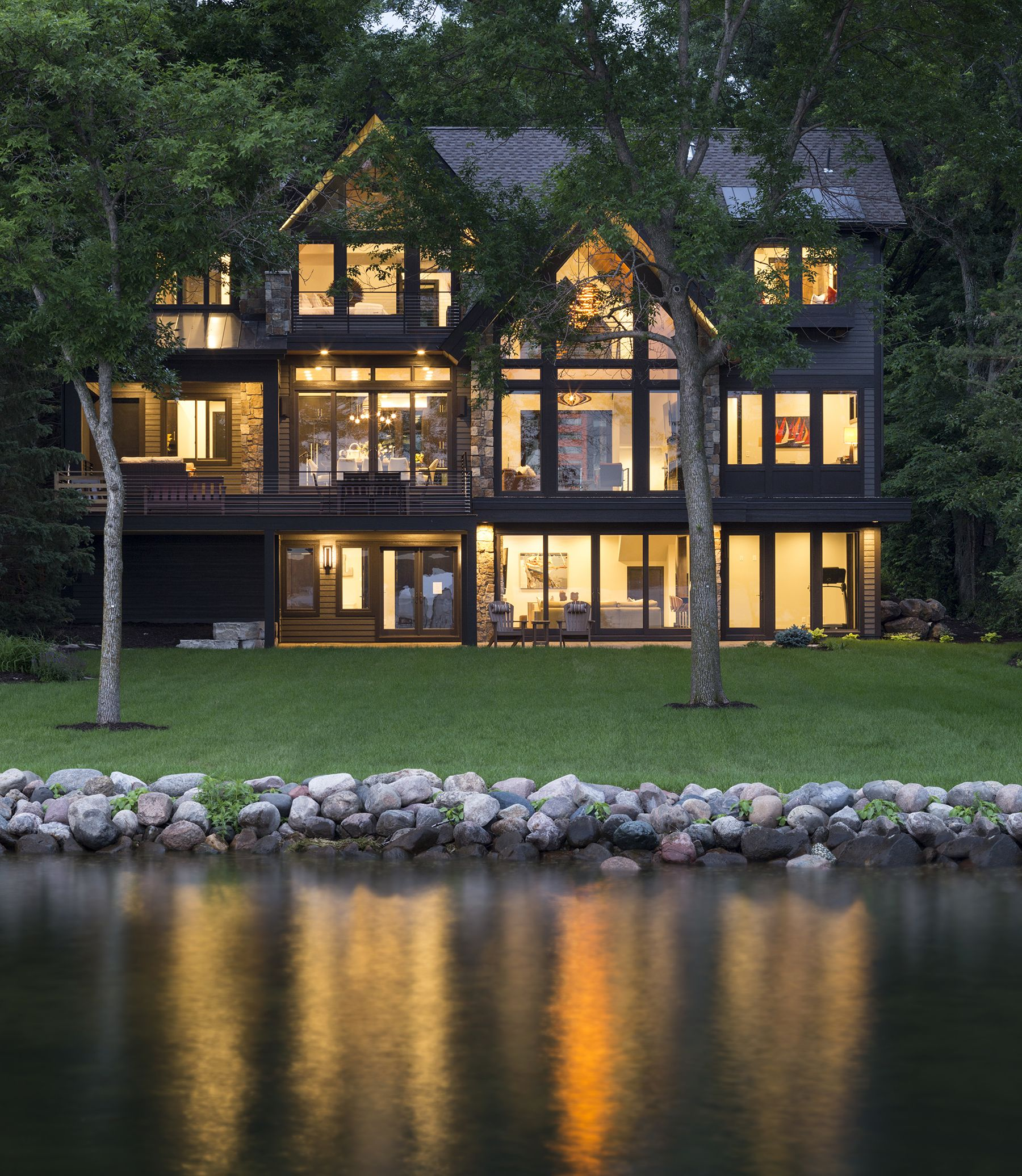 Lakeside Mountain Modern — Alexander Design Group | Lake ...