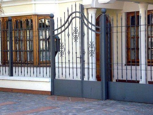 Decoracion y dise o en rejas para la casa cerramientos - Puertas de metal para casas ...