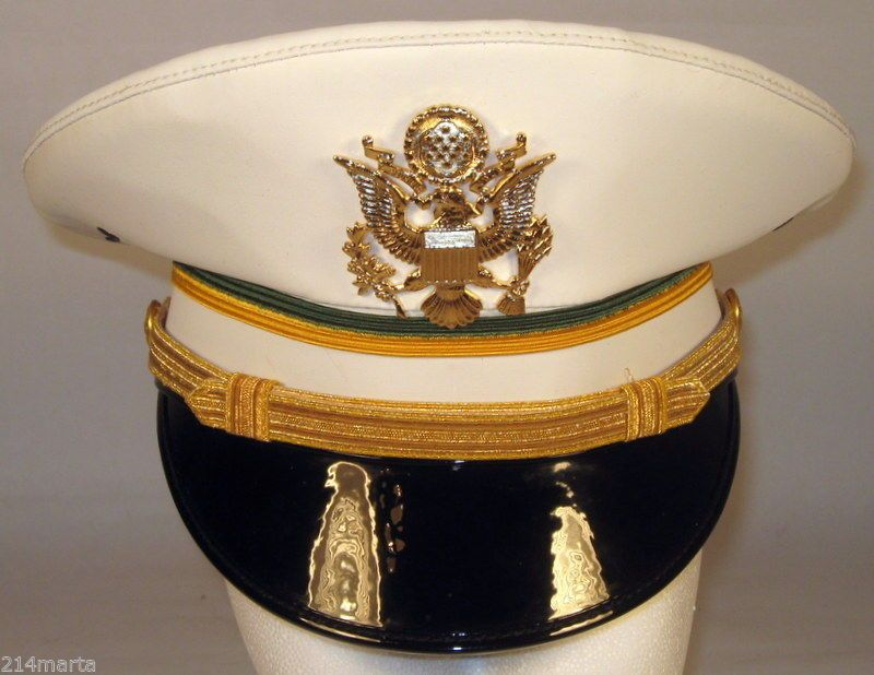 debbd5742c9 US Army Military Police MP Officer Service Dress Whites Hat Cap 6 3 8 or 51