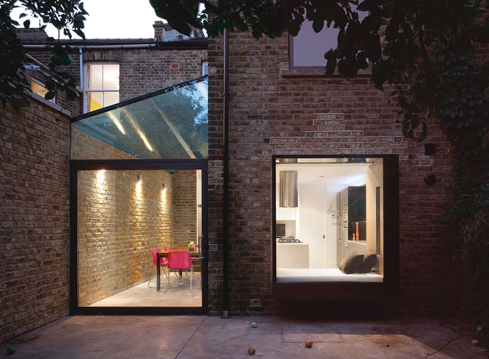 Modern glass extensions to victorian home design studio4 for 1930s bay window construction