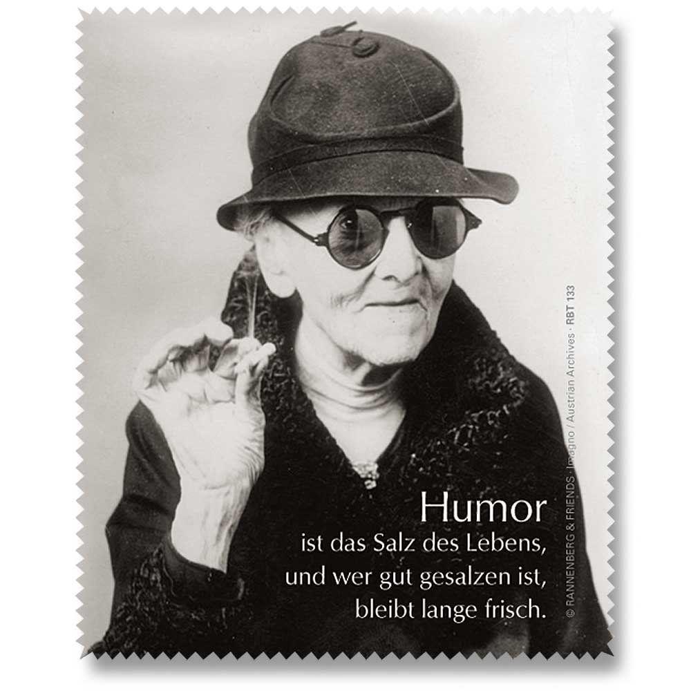 Brillenputztuch Humor ist das Salz | Sprüche