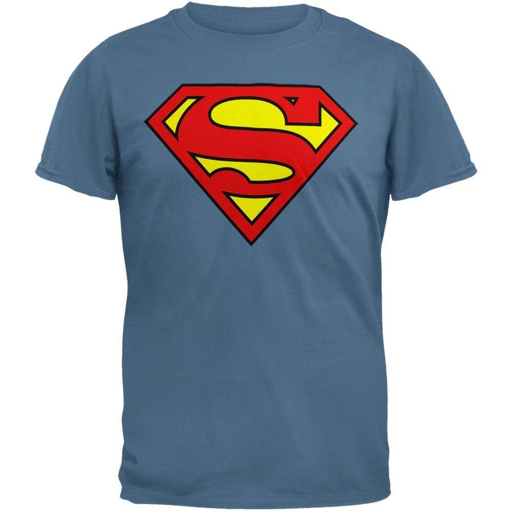 d701dce045536 Superman - Shield Logo Slate T-Shirt in 2019
