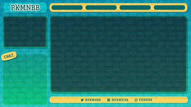 Animal Crossing New Horizons Custom Stream Overlay For Twitch Mixer Or Youtube Custom Designs By Veenavieravisuals On Etsy Overlays Custom Twitch