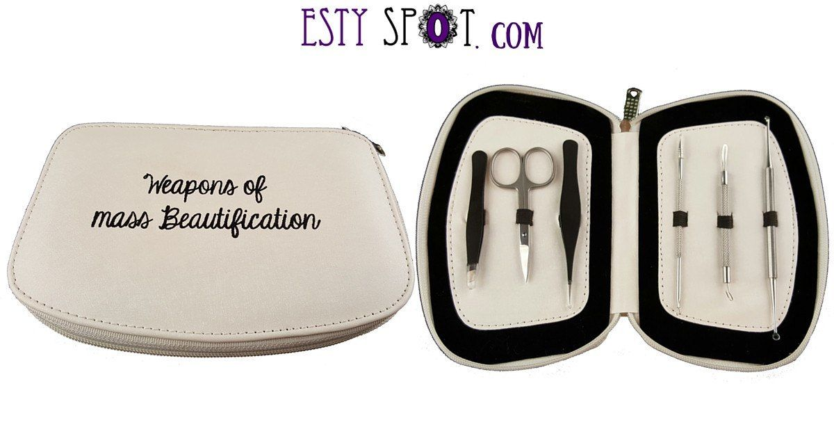 Comedone Extractor, Tweeze and Trim Tool Kit - EstySpot Exclusive from Esty Spot