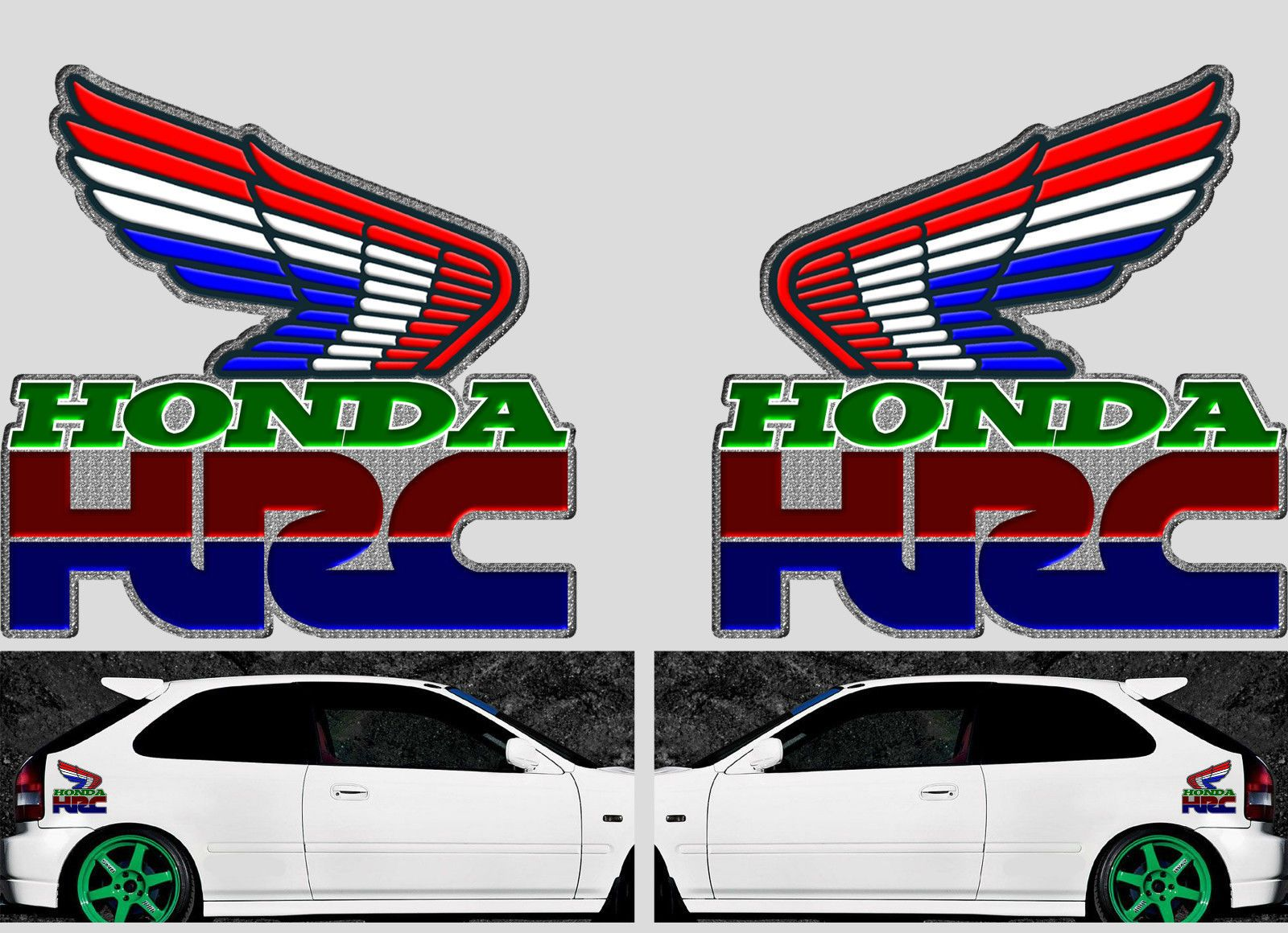 Honda Racing Decal Decals HRC Sticker Cars Bikes Window - Decals and stickers for cars