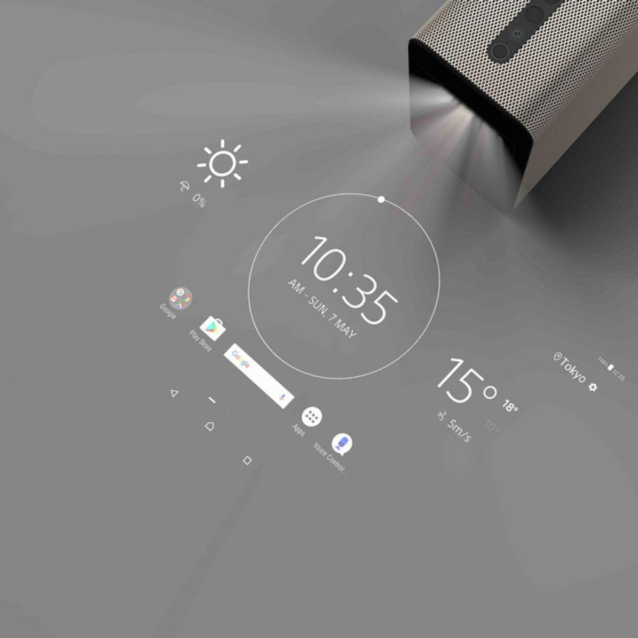 写真6/20|「Xperia Touch」壁や机に映されたスクリーン、タッチ ...
