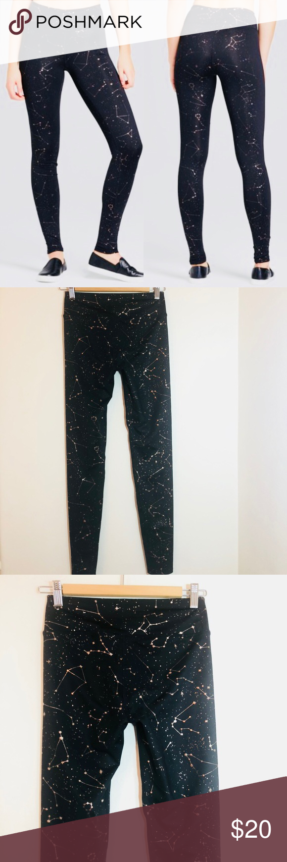 96eb129cbccfab JOY LAB | black constellation gold leggings NWOT Joy Lab black leggings  with gold constellation print