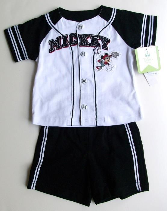Adorable Mickey 2 piece Baseball Set, 9 months