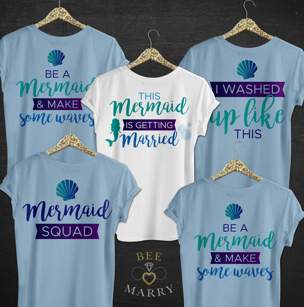 6761bcc5 Mermaid T-Shirt Hen Party Tops Bride Do Bridal Squad T-Shirts Married Gift  Party