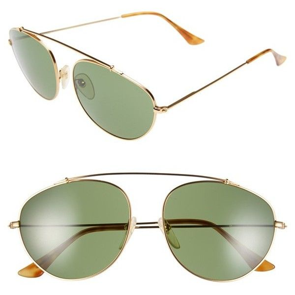 SUPER by RETROSUPERFUTURE 'Leon' 55mm Aviator Sunglasses ($289) ❤ liked on Polyvore featuring accessories, eyewear, sunglasses, metal sunglasses, retrosuperfuture glasses, lens glasses, retrosuperfuture sunglasses and adjustable lens glasses
