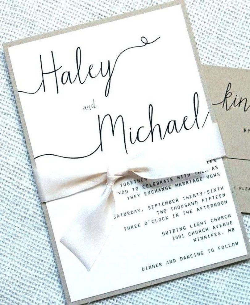 Wedding invitations diy handmade, Simple wedding invitations