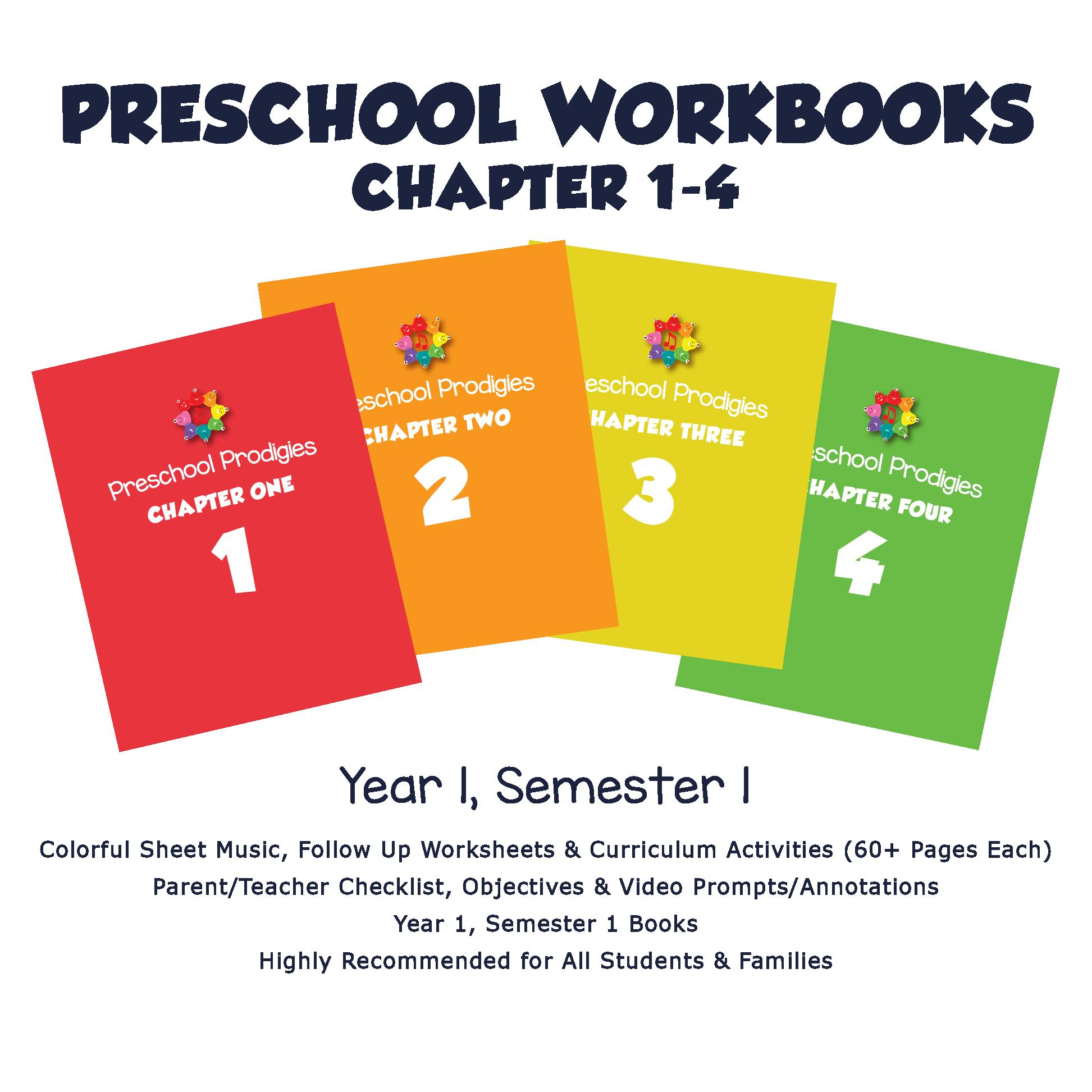 Workbooks 1 4 Preschool 1