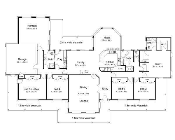 The bourke australian house plans house plans for Open plan house designs australia